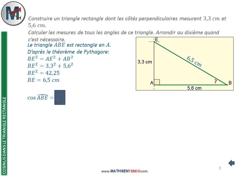 calcul d un angle