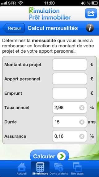 calcul de pret immobilier