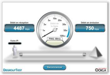 calcul debit internet