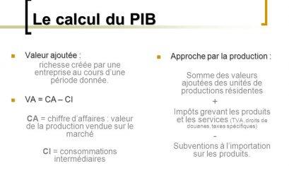 calcul du pib