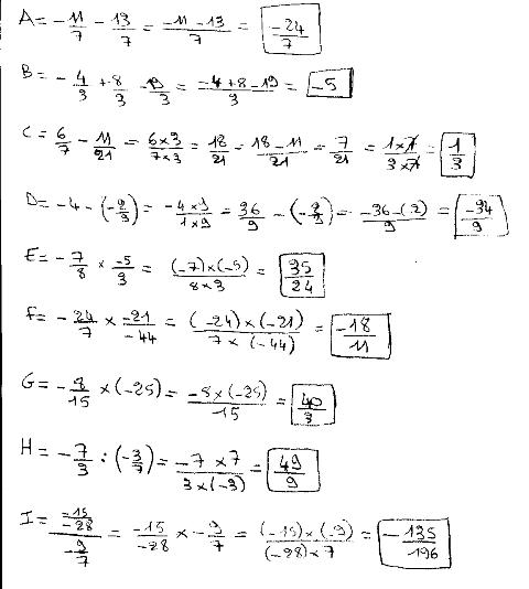 calcul fraction