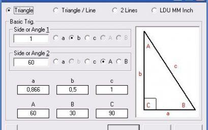 calcul triangle rectangle